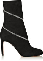Alaia Zipped suede ankle boots