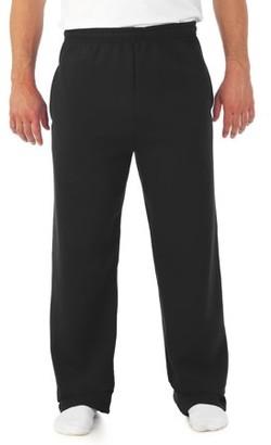 Jerzees Men's and Big Men's Fleece Open Bottom Sweatpants, up to Size 3XL