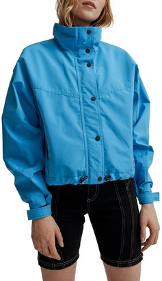 Noize Skye Stand Collar Drawcord Rain Jacket