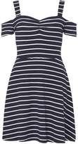 Dorothy Perkins Navy Stripe Bardot Dress
