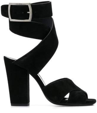 Saint Laurent Crossover Strap Sandals