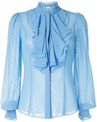 Alexis Benham ruffled bib blouse