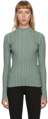Acne Studios Green Rib Knit Turtleneck