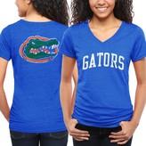 Fanatics Florida Gators Women's Slab Serif Tri-Blend V-Neck T-Shirt - Royal Blue