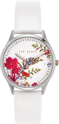 Ted Baker Belgravia Printed Leather Strap Watch, 36mm