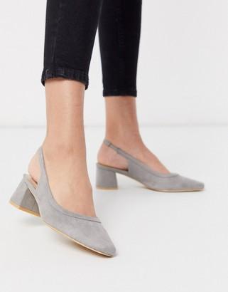 Glamorous sling back heeled shoe in light grey