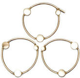 Kenneth Cole Circle Stretch Gold Bracelet Set