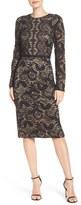 Maggy London Women's Metallic Lace Dress
