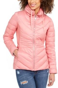 Bernardo Hooded Water-Resistant Packable Puffer Coat