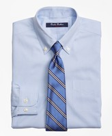 Brooks Brothers Non-Iron Supima Pinpoint Cotton Houndstooth Dress Shirt