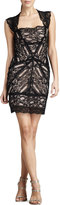 Nicole Miller Stretch-Lace Cocktail Dress