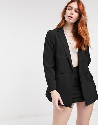 Object Barbara lightweight blazer in black
