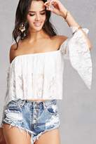 Forever 21 Off-the-Shoulder Lace Top
