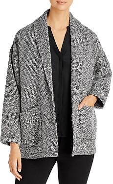 Eileen Fisher Shawl Collar Tweed Coat