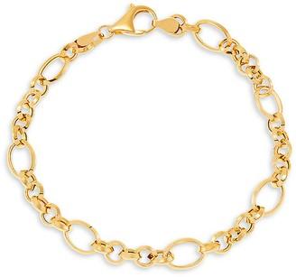 Saks Fifth Avenue 14K Yellow Gold Knife Edge Link Bracelet