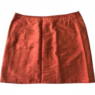 Moschino Orange Silk Skirt for Women Vintage