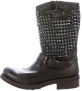 Ash Leather Studded Boots