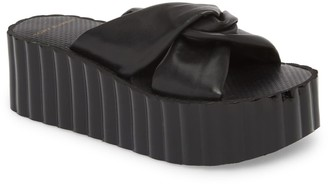 Tory Burch Knotted Scallop Wedge Slide Sandal