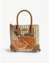 MICHAEL Michael Kors Malibu embroidered medium straw tote bag