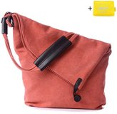 Dreambox Women's Vintage Canvas Shoulder Bag Crossbody iPad Bags for All-Purpose Use
