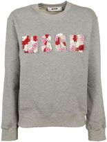 MSGM Embroidered Brand Logo Sweatshirt