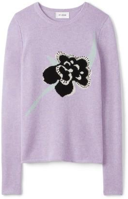 St. John Cashmere Intarsia Knit Sweater