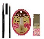 shu uemura eyebrow pencil happy bag (hard formula, brow sword, daiso Japan eyebrow coat, hand mirror) (Stone gray)