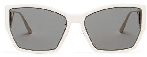 Christian Dior 30montaigne Rectangular Acetate Sunglasses - Ivory