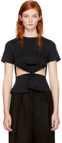 Edit Black Front Knot T-shirt