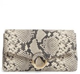Vince Camuto Adiana Leather & Suede Clutch - Grey