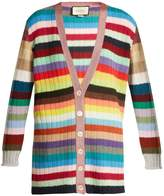 Gucci Striped cashmere and wool-blend cardigan