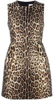 RED Valentino leopard print dress - women - Polyester/Polyamide/Cotton/Acetate - 40