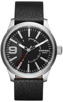 Diesel R) 'Rasp' Leather Strap Watch, 46mm