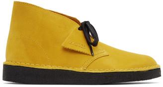 Clarks Yellow Suede Coal Desert Boots