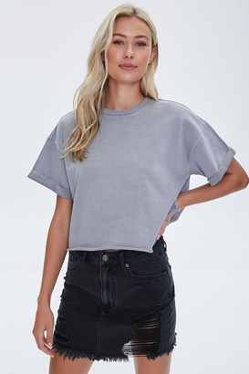 Forever 21 French Terry Cuffed Tee