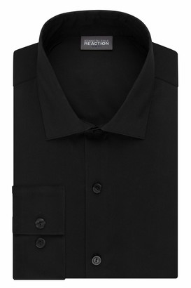 Kenneth Cole Reaction mens Slim Fit Technicole Stretch Solid Dress Shirt