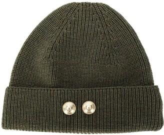 Barena Button Beanie Hat