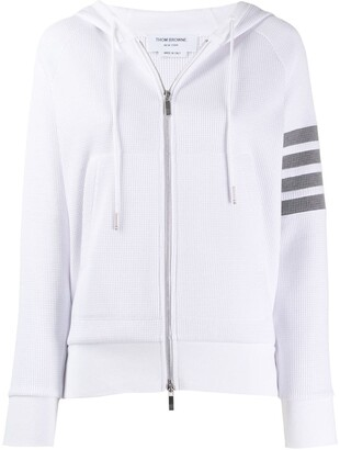 Thom Browne 4-Bar stripe zip-up hoodie