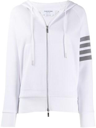 Thom Browne 4-bar zipped hooded jacket