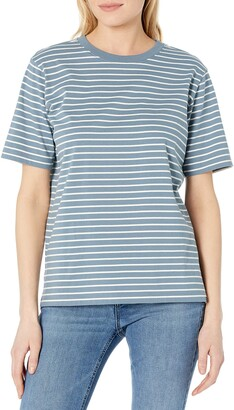 Pendleton Women's Short Sleeve Deschutes Stripe Tee T-Shirt