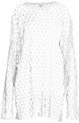 Dries Van Noten Oversized Long-Sleeve Mesh Top