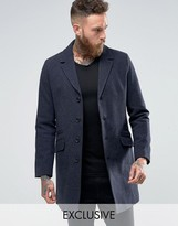 ONLY & SONS Smart Overcoat In Wool