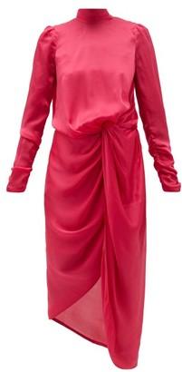 Zimmermann Drape Knotted Silk-chiffon Dress - Womens - Pink