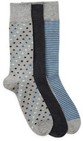 Cole Haan 3-Pair Printed Crew Socks