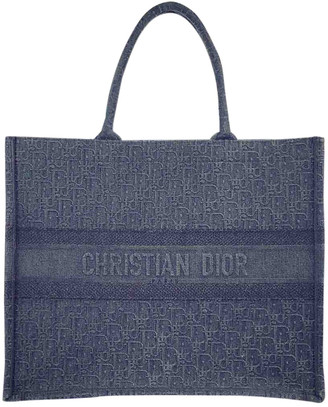 Christian Dior Book Tote Blue Denim - Jeans Handbags