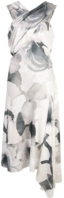 Josie Natori Crisscross Front Midi Dress
