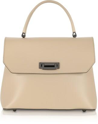 Lutece Medium Leather Top Handle Satchel Bag
