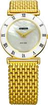 Jowissa Women's J2.079.M Roma MoL Gold PVD Mother-Of-Pearl Roman Numeral Watch