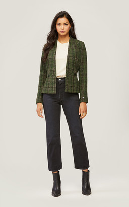 Soia & Kyo AERIN fit and flare wool blazer with box pleats