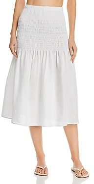 Solid & Striped Smocked Drop-Waist Skirt
